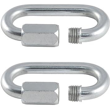 2 x – 5 mm Edelstahl Quick Link – Draht Seil/Kette Link Karabiner ...