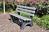 Cheap Frog Furnishings Central Park Bench, 4′, Brown