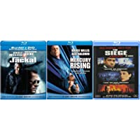 The Jackal / Mercury Rising / The Siege (Bruce Willis 3 Moive Blu Ray Collection) Starring: Richard Gere, Sidney Poitier…