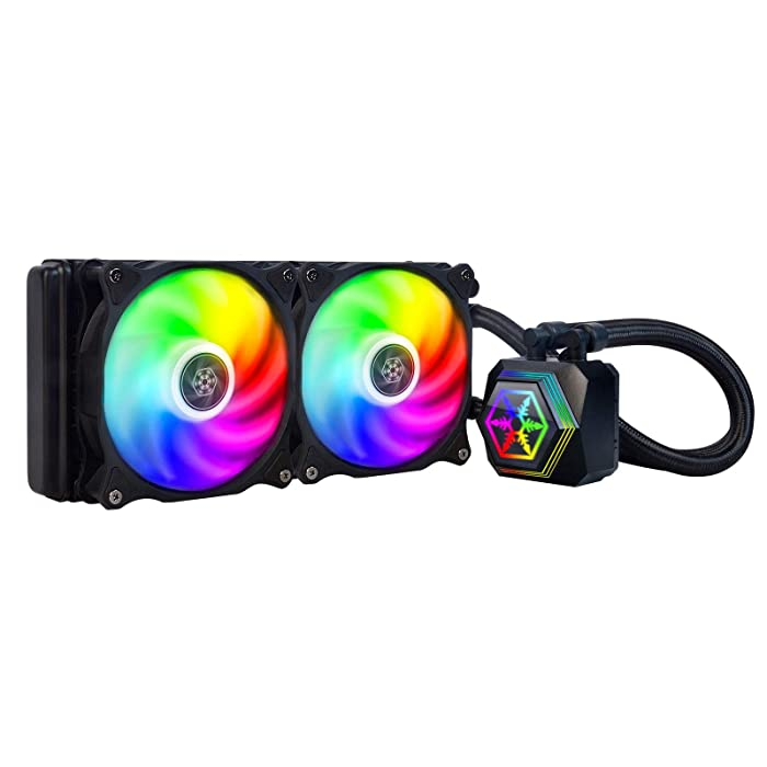 SilverStone Technology PF240-ARGB Permafrost 240mm All in One Multi-Chamber Addressable RGB CPU Liquid Cooler Supports Intel/AMD