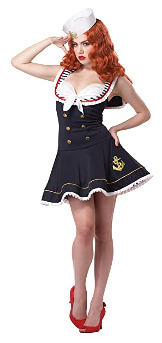 Pin Up Girl Costumes | Pin Up Costumes California Costumes Womens Nautical Doll Costume $49.99 AT vintagedancer.com