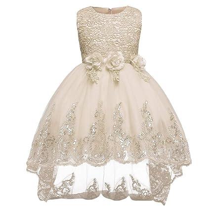 89ec1e963558 ChenYongPing Vestido para niños Vestido de Dama de Honor Vestido de Fiesta  para Fiesta de Cumpleaños