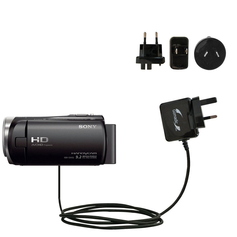 Gomadicグローバルホーム壁AC充電器Designed for the Sony hdr-cx455 /cx450 /cx485 with電源スリープテクノロジー – Supports Worldwide壁コンセントと電圧レベル – Designed with Gomadic   B01GEV8A0K