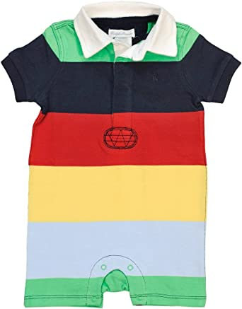55b9f9da Ralph Lauren Cotton Jersey Rugby Multicolored Shortall for Baby Boys, 9  Months