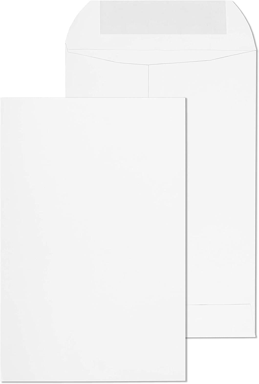 EnDoc 6x9 Open End Self Seal Envelopes - Bright White 28lb Heavyweight Paper 6 x 9 Inches Envelope for Home, Mailing Documents, Office, Business, Legal or School - 250 Pack