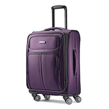 Samsonite Leverage LTE Expandable Softside Carry On with Spinner Wheels, 20 Inch, Purple