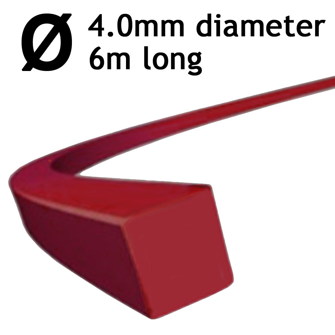 3 x 6 metres SPARES2GO Square 4mm Diameter Strimmer Trimmer Brushcutter Line