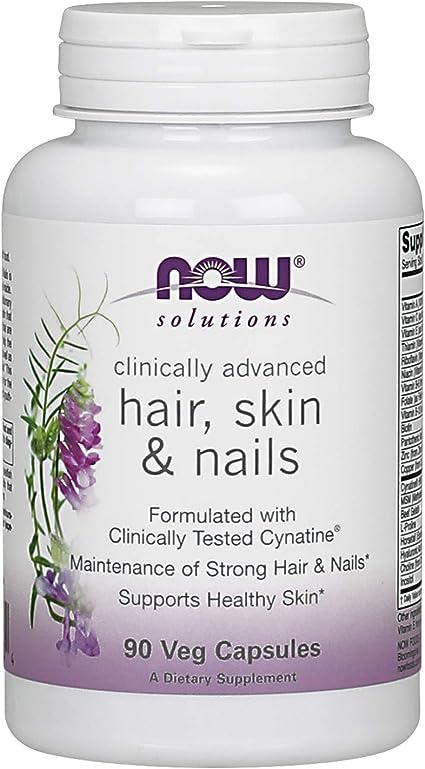 Amazon.com: Now Foods, Soluciones, cabello, piel y uñas, 90 ...