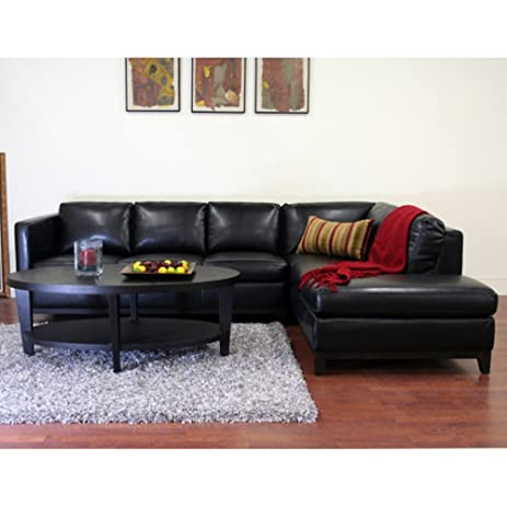Wholesale Interiors Rohn Black Leather Sectional Sofa  sc 1 st  Amazon.com : wholesale leather sectionals - Sectionals, Sofas & Couches
