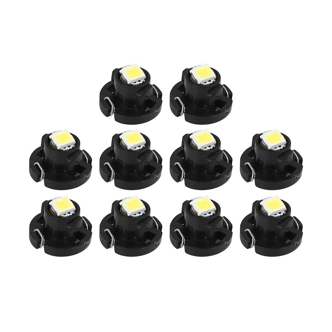 X AUTOHAUX 10pcs T4.2 Blanc 1210 Instrument Tableau Bord Voiture Lumi/ère Ampoules Jauge