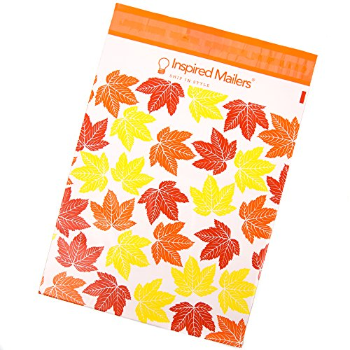 Inspired Mailers Poly Mailers 10x13 Autumn Leaves – Pack of 100 – Unpadded Shipping Bags by Inspired Mailers (Image #1)