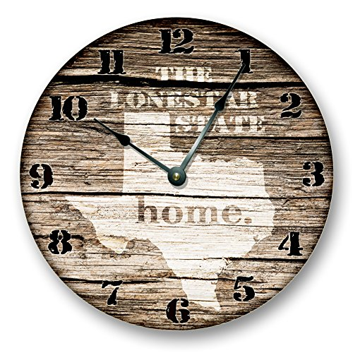 TEXAS STATE HOMELAND CLOCK -THE LONESTAR STATE - Large 10.5