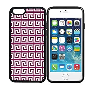 iPhone 6 (4.7 inch display) RCGrafix Greek Pattern - Wine - Designer BLACK Case - Fits Apple iPhone 6- Protected Cell Phone Cover PLUS Bonus Iphone Apps Business Productivity Review Guide