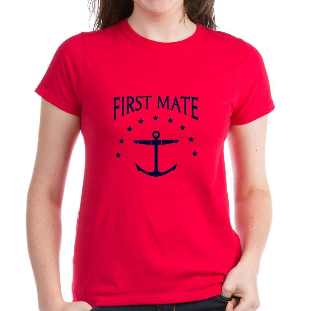 CafePress - First Mate T-Shirt - Womens Cotton T-Shirt