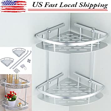 Amazon.com: Shampoo Basket Shower Caddy Shelf Bathroom Corner Rack ...