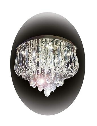Eplazalighting Bed Room Lights 19 5 Crystal Chandelier Ceiling Light For Dining Living Amazonde Beleuchtung