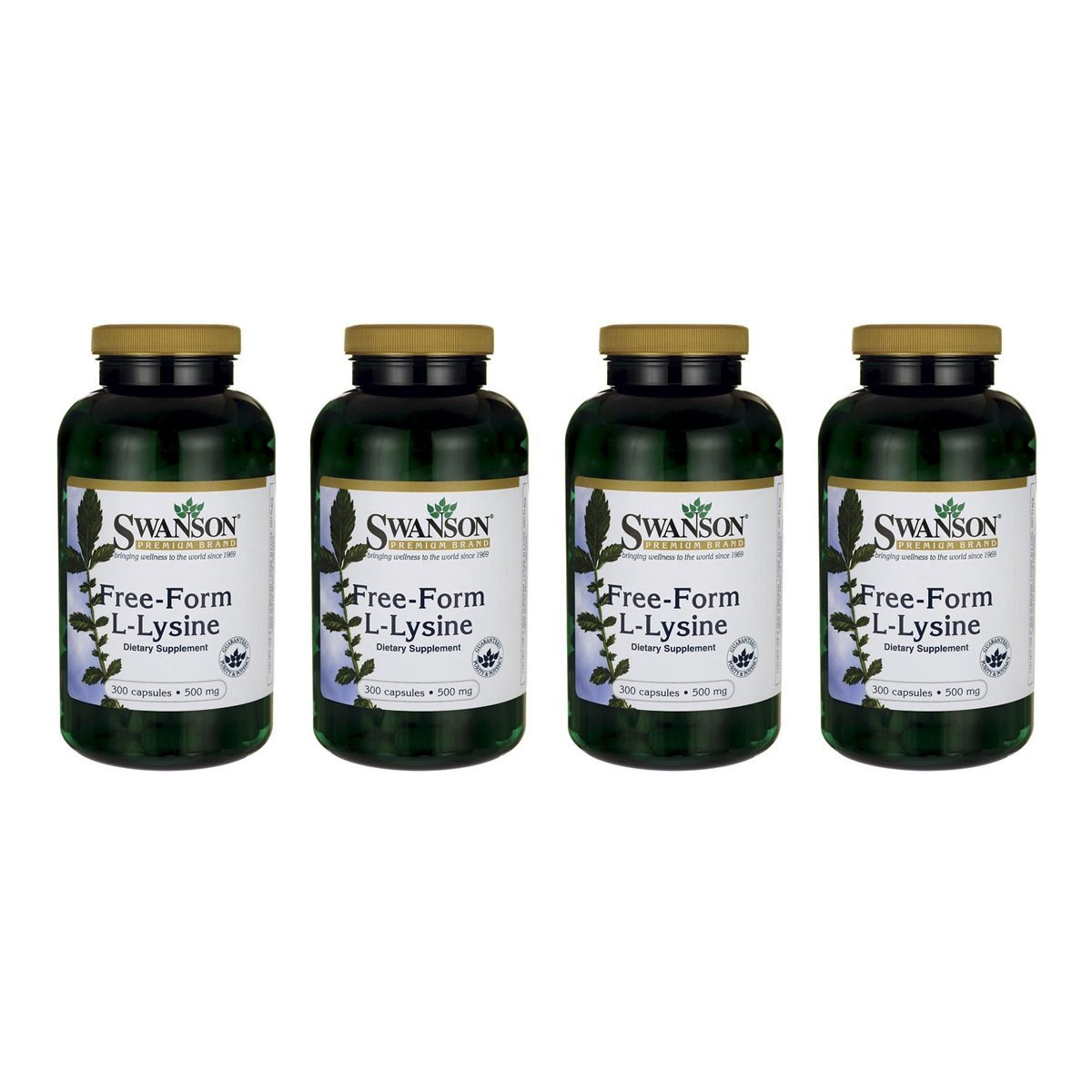 Swanson Brewer's Yeast 500 mg 500 Tabs 4 Pack