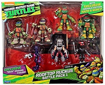 Teenage Mutant Ninja Turtles Half-Shell Heroes Rooftop Ruckus Battle Pack 1 (Playmates Tmnt Turtles)