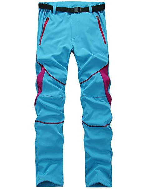 92aec8697e7 Lakaka Hiking Trousers Fast Dry for Women Lightweight Fast Dry Breathable  Outdoor Sportswear Windproof Pants  Amazon.co.uk  Sports   Outdoors