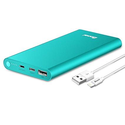 Amazon.com: Cargador portátil, BONAI 8GN-C 13800 mAh batería ...