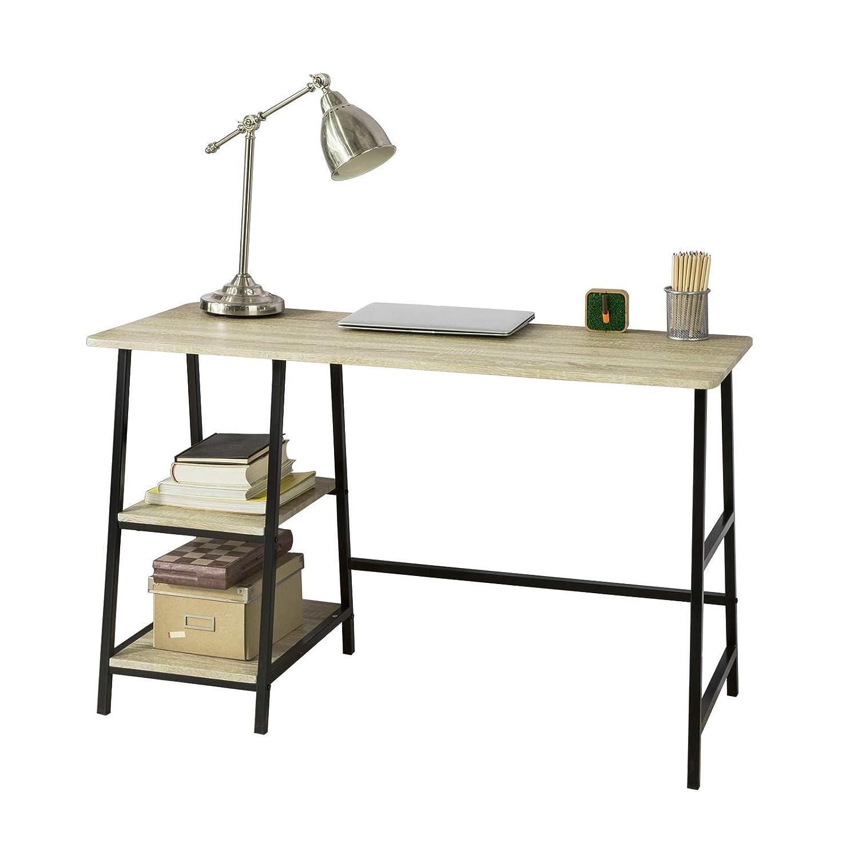 SoBuy | Mesa de Escritorio | Mesa de Ordenador | con 2 estantes ...