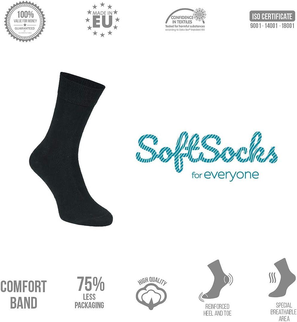 SoftSocks Calze Classiche 10 P +1 P Molte Taglie Qualit/à Del Cotone TRASPIRANTE Di Calzini Di Bamb/ù Come Regalo Di Prova