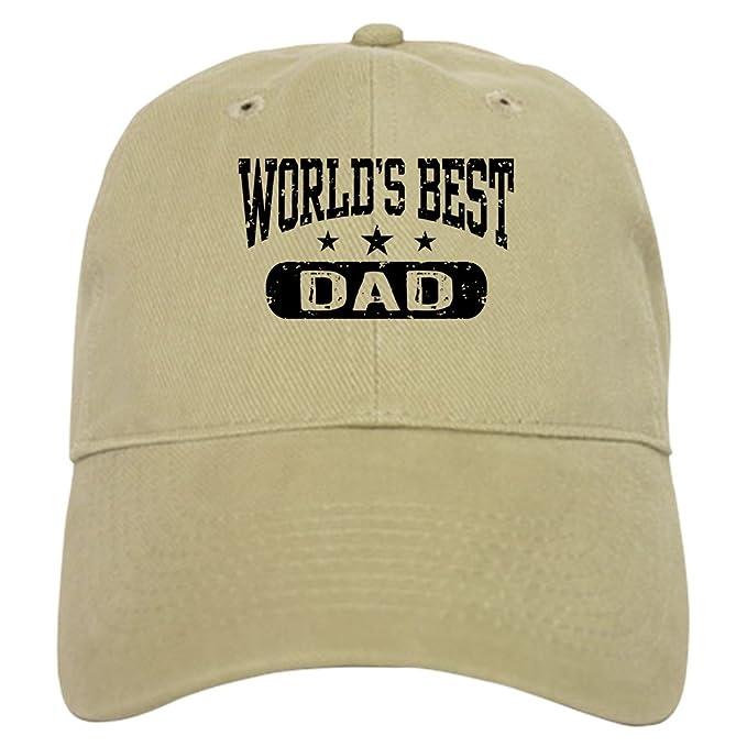 CafePress - World s Best Dad Cap - Baseball Cap with Adjustable Closure 93a113044ec0