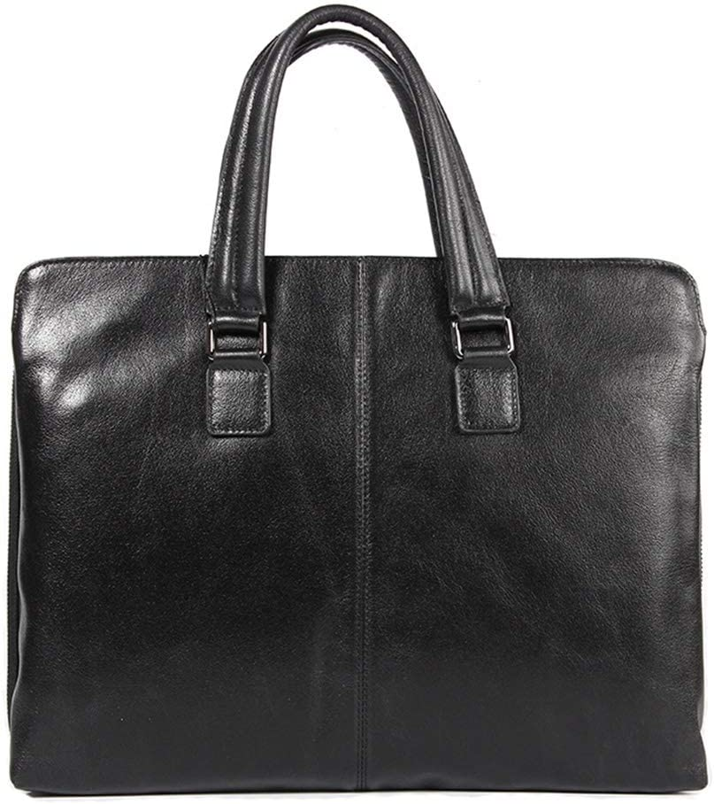 Crystalzhong-MB Men Briefcase Leather Briefcase Multi-Functional Portable Large Capacity Handbag Mens Messenger Shoulder Laptop Bag for Business Work College School