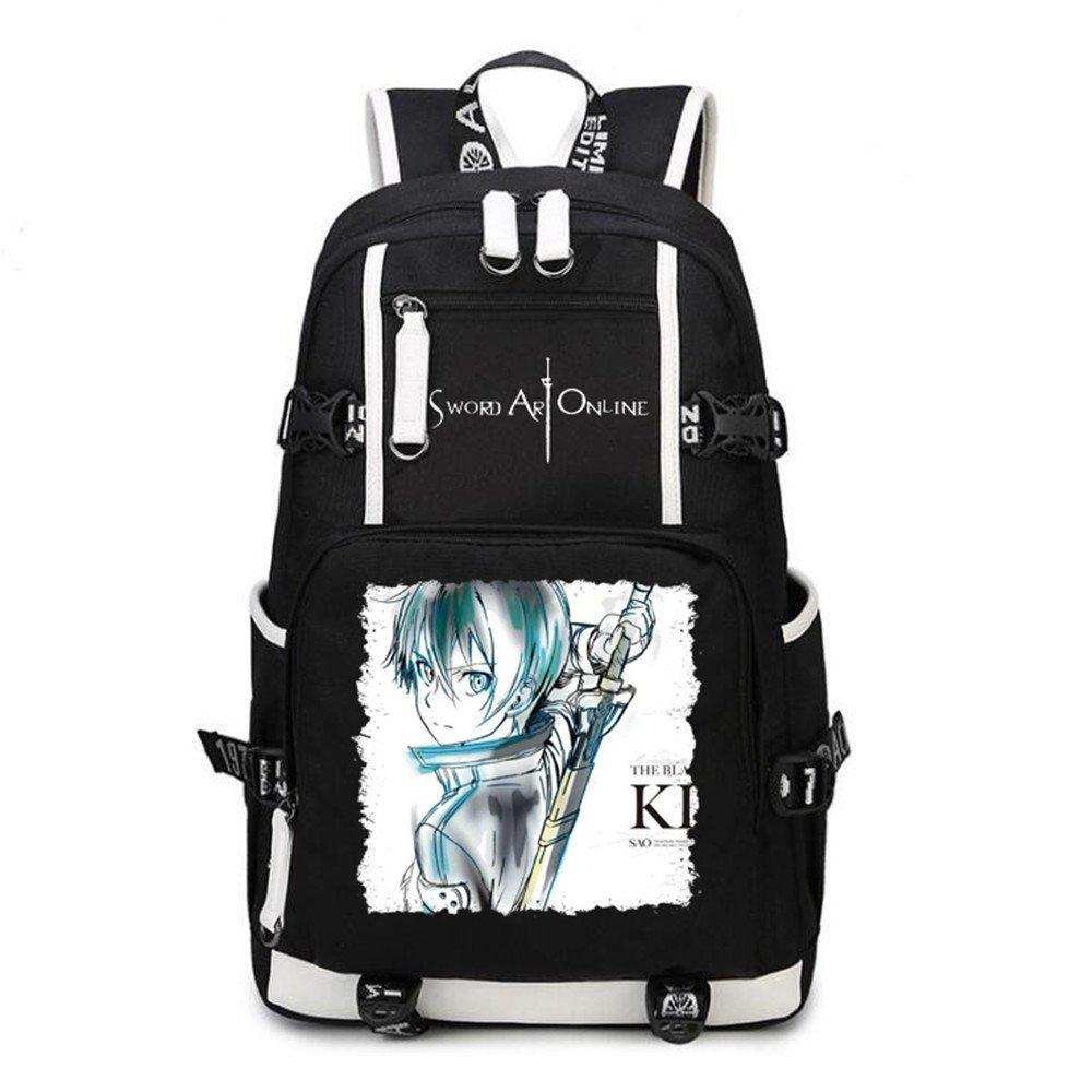 a8978b0b13c6 Siawasey Anime Sword Art Online Cosplay Backpack Daypack Bookbag Laptop Bag  School Bag