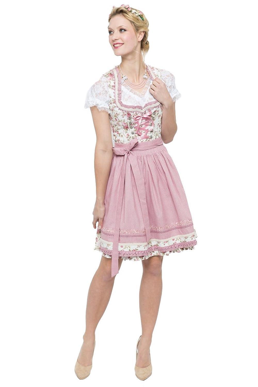 Bergweiss Trachten Damen Mini Dirndl Simona creme/rosa D010272 günstig  kaufen