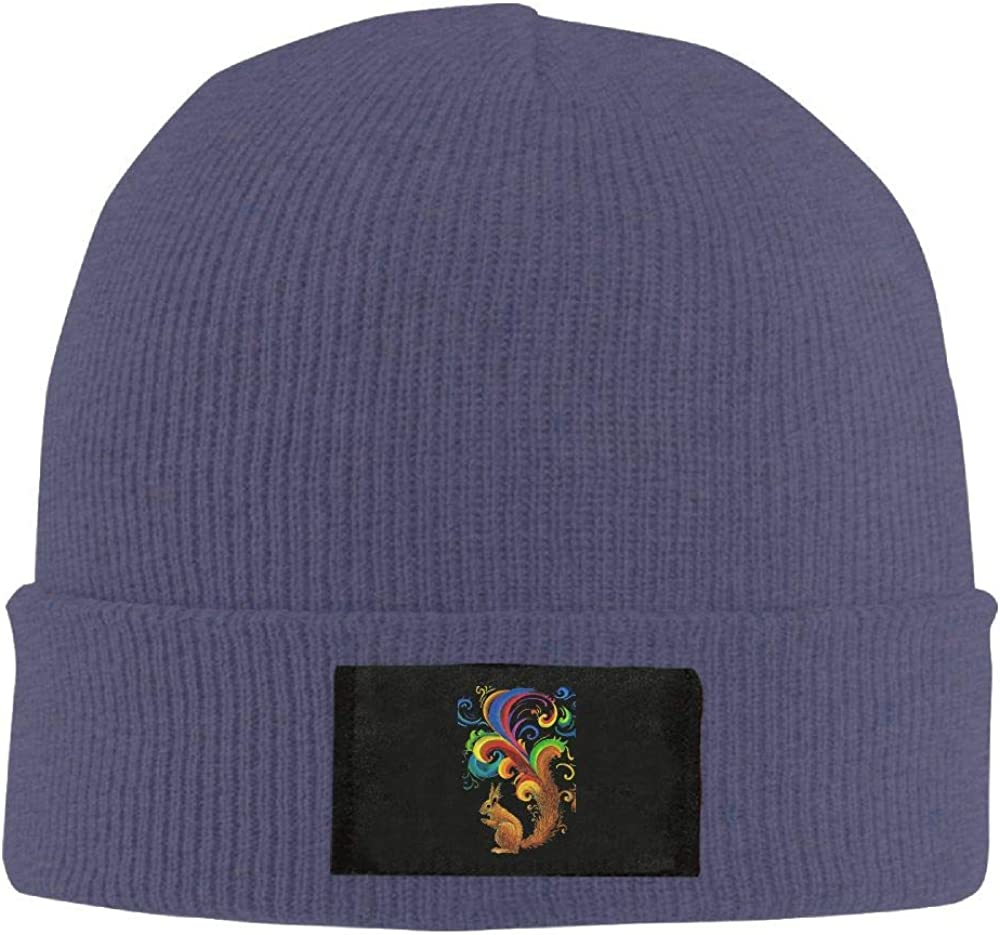 DLOAHJZH-Q Adult Unisex Psychedelic Squirrel Street Style Knitted Hat