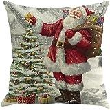 Fundas De Cojines, Xinan Navidad de impresión de teñido sofá cama Decoración del hogar Funda