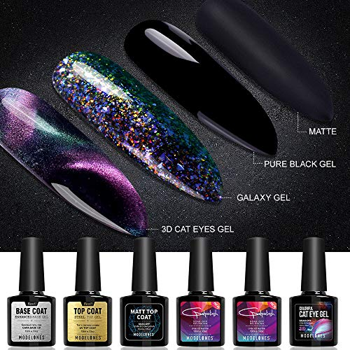 Modelones Gel Nail Polish Set - 3D Cat Eyes Chameleon Gel Po
