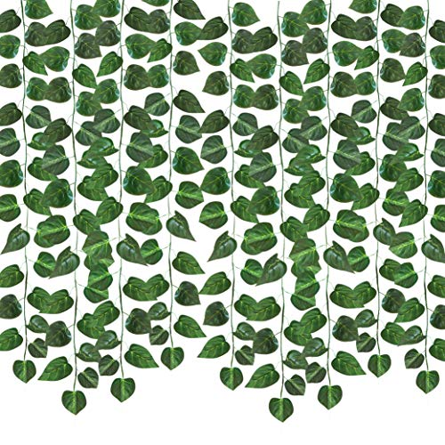 See Greeen 105 feet (12 Pack) Artificial Garlands for Baby Shower, Birthday, Classroom, Table Runner and Safari Jungle Theme Party