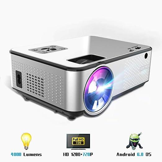 Proyector de video WiFi, mini proyector inalámbrico 4000Lux ...
