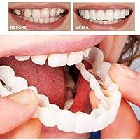 Womdee Fake Teeth Top, Beautiful Instant Dental Veneers Smile Comfort Fit Flex Cosmetic Teeth Denture Teeth Top Cosmetic Veneer,One Size Fits Orthodontic
