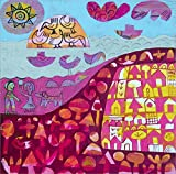 Birds On The Rock 2 by Hilke MacIntyre Double Sided Laminate, 16 x 16 inches