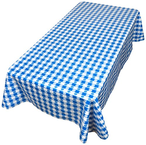Carnation Home Fashions PFLN-90/09 Picnic Check Vinyl Flannel Backed Tablecloth, 52