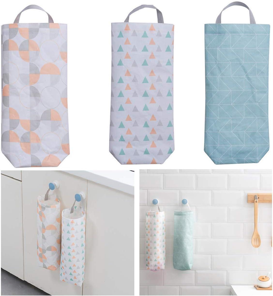 Pantry Organization Floral Bird Plastic Bag Storage Mothers Day Gift Hanging Bag Holder Closet Organizer Gray Bird Print Gray Kitchen