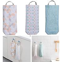 Plastic Bag Holder (3 Pack) Waterproof Wall Mount Grocery Dispenser Garbage Bag Organizer by YMHB