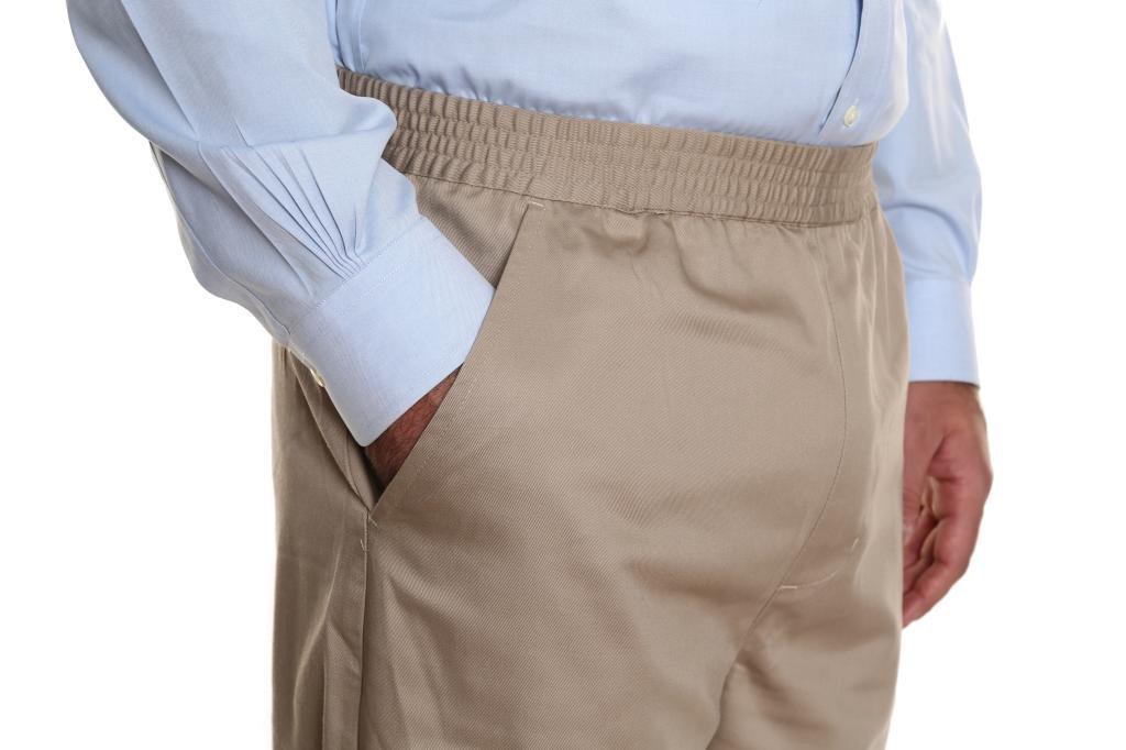Pembrook Men's Full Elastic Waist Twill Casual Pant - L - Tan by Pembrook (Image #6)