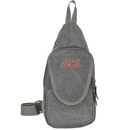 5086 Delta Sigma Canvas Sling Bag Outdoor Body Shoulder Chest Pack ...