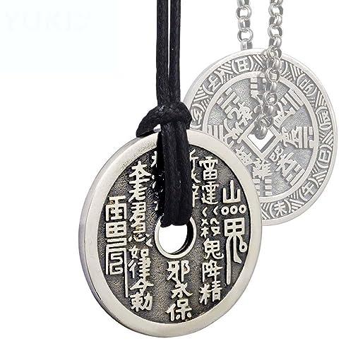 HFJ&YIE&H Hombres y mujeres collar de plata 925 plata tailandesa accesorios de joyería de plata retro