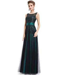 Ever-Pretty Womens Sleeveless Shimmery Floor Length Prom Dress 08740