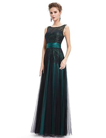 Ever-Pretty Womens Sleeveless Shimmery Floor Length Prom Dress 08740 ...