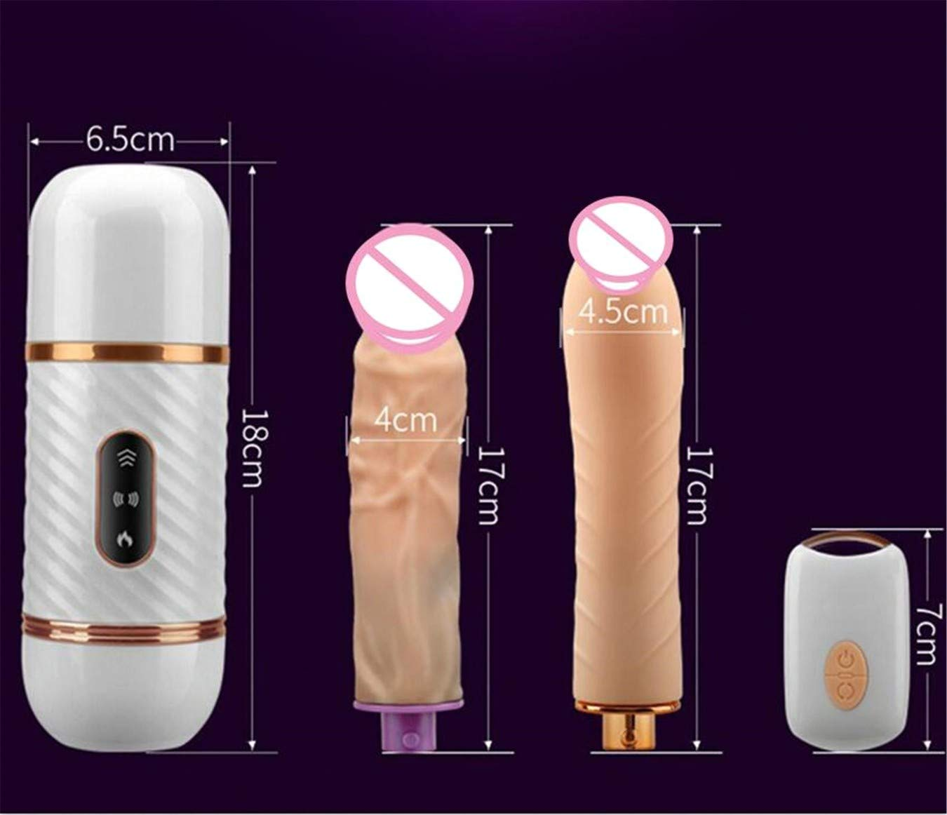Sex Dildo Vibrator Telescopic Vibrating Dildo for Adult Silicone Vibrator Anal Vagina Stimulator Sex Machine Remote Control Vibrator Magic Massager for Women with Two Dildos