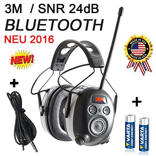 3M BLUETOOTH SNR 24db Digital Radio Gehörschutz Kopfhörer Gehörschützer hearing protector