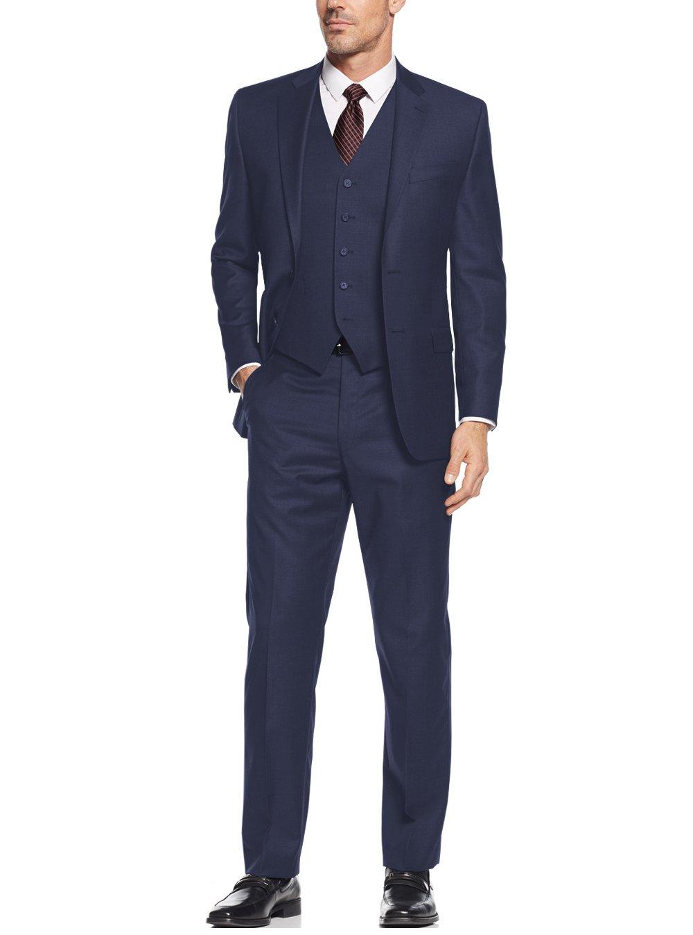 Salvatore Exte Mens Suit Vested Three Piece Blazer Jacket Dress Vest Plus Pants