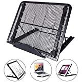Laptop Stand, LURICO Ventilated Adjustable Light Box Pad Stand Portable Ergonomic Light Box Pad Cooling Stand Tablet Stand for Tracing Pad/Laptop / Tablet/Notebook, Foldable Design