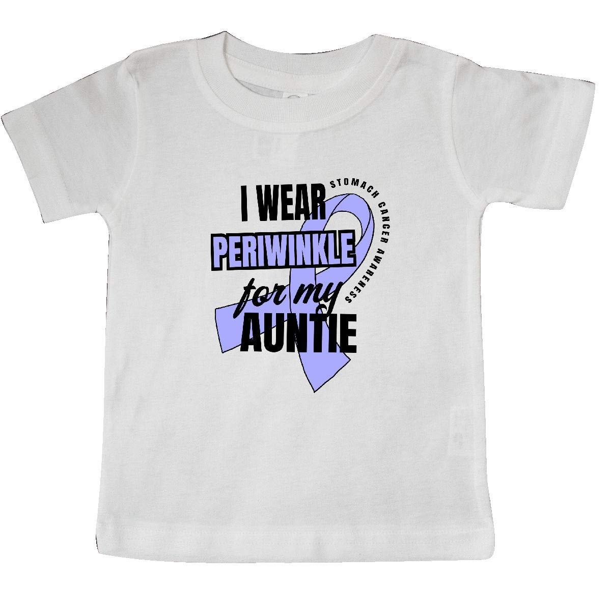 inktastic I Wear Periwinkle for My Auntie Stomach Cancer Awareness Baby T-Shirt